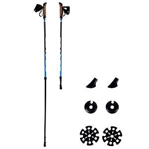 Msports Nordic Walking Stöcke Premium – hochwertige Qualität – Superleicht – auswählbar mit Tragetasche – Walking Sticks