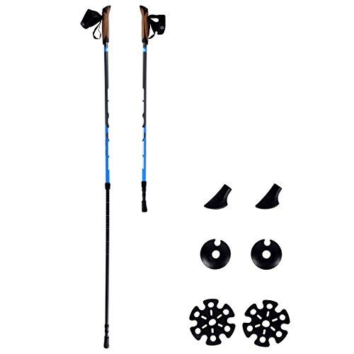Nordic Walking Stöcke Premium - hochwertige Qualität - Superleicht - auswählbar mit Tragetasche - Walking Sticks