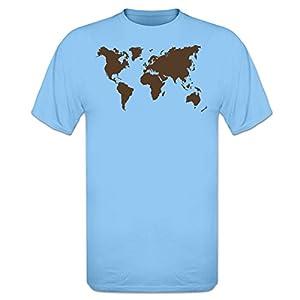 Shirtcity Camiseta Mapa del Mundo by