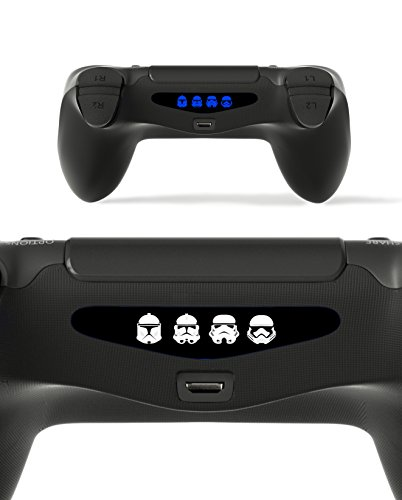 Price comparison product image GnG 2x LED Starwars Storm Trooper Light Bar Decal Sticker For PlayStation 4 / Slim / Pro PS4 Controller DualShock 4