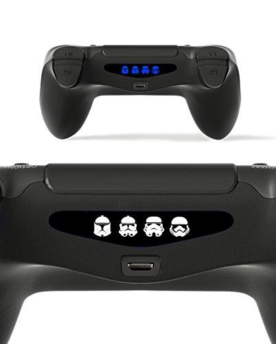 GnG 2 x barre de lumière LED Stormtrooper de starwars autocollant autocollant F PlayStation 4 PS4 contrôleur DualShock 4