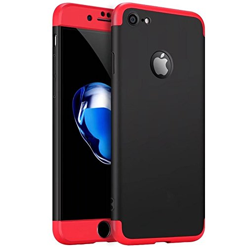 custodia iphone 7 plus 360 rosso