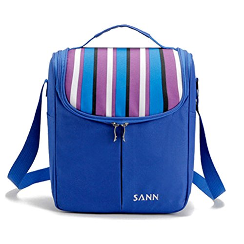 Zhhlaixing Portatile Insulated Tote Thermal Lunch Bag/Cool Bag/Cooler/Lunch Box/Picnic Bag Blue