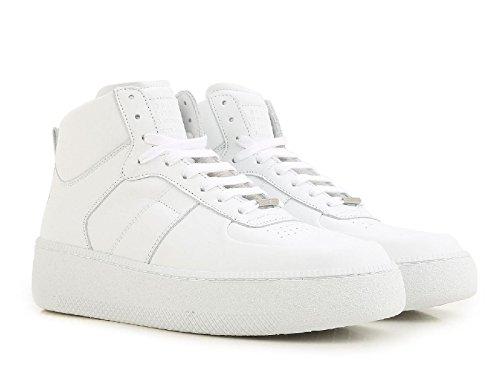 Maison Margiela Sneakers Alte Uomo in Pelle Bianco - Codice Modello: S57WS0157 SY0638 101 - Taglia: 40 EU