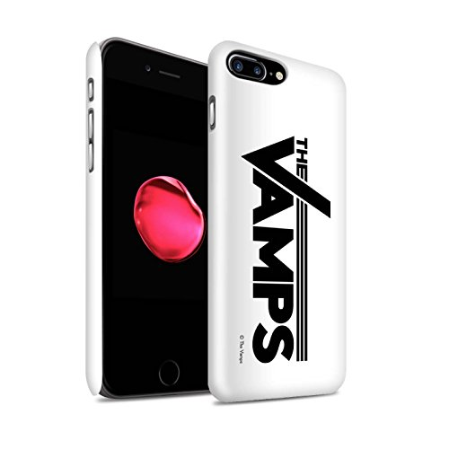 Officiel The Vamps Coque / Clipser Brillant Etui pour Apple iPhone 7 Plus / VVV Design / The Vamps Graffiti Logo Groupe Collection Blanc/Noir