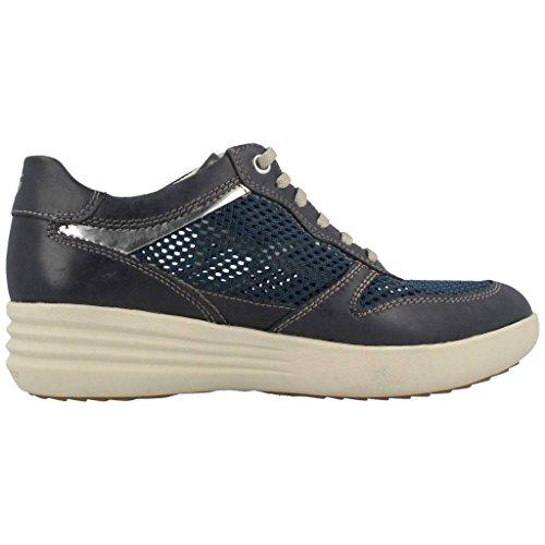 Stonefly 106220 sneakers donna stringata blu con zeppa Blu