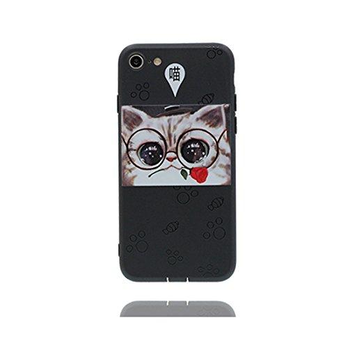 iPhone 7 Custodia, Premium TPU flessibile durevole Apple iPhone 7 Copertura Case 4.7 (Non per iPhone 7 Plus) Slim SOFT insetto Uccello, Graffi di polvere resistenti Nero 3