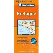 Carte routière : Bretagne