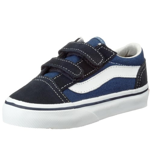 Vans T Old Skool V, Baskets mode mixte enfant Bleu (Navy)