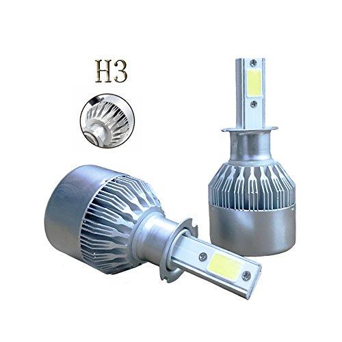 Preisvergleich Produktbild Wiseshine h3 canbus LED birne lampen zum autolampen 7, 600 lumen 72W 6000K kühles weiß COB 3 Jahre Garantie