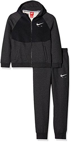 Nike B NK Air TRK Suit Cuff BF Trainingsanzug für Junge, Schwarz (Black Heather/Black/White), S