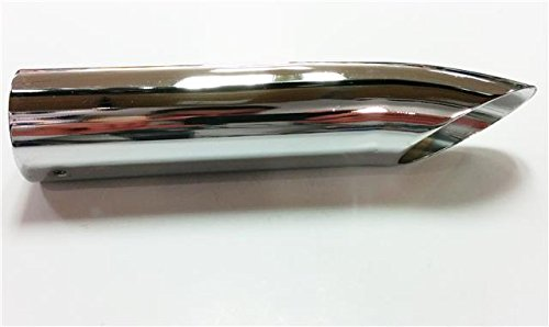 Curved Tail Pipe Chrome Polised Racing Look Exhaust Rear Cover Tip 40mm To 70mm
