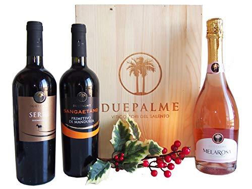 Regalo natalizio vini pugliesi cantina due palme - splendide idee regalo natale cassette vini - cod 154