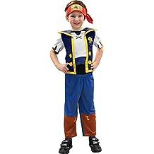 Jake y los piratas de Nunca Jamás - Disfraz de Jake, talla 3-4 años (Rubies 881214-S)