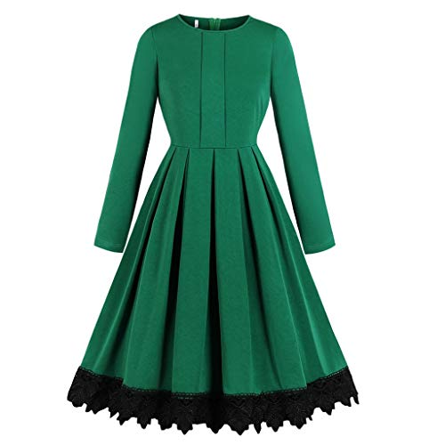 Edle Renaissance Kostüm - foreverH FORH Damen Langarm Mittelalter Kleid