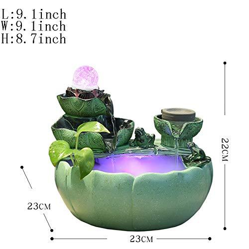 Statue artigianato decorazione,fontana da tavolo ornamenti dell'acqua sfera di trasferimento decorazione interna regalo d'affari-rima 9.1inch