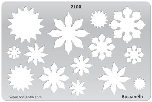 15cm x 10cm Normographe Plastique Transparent Trace Gabarit de Dessin Conception Graphique Art Artisanat Fabrication Bijoux Illustration - Fleurs de Printemps