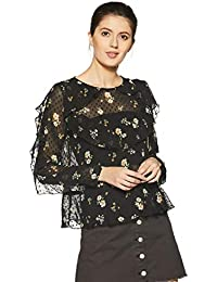 Forever 21 Women's Floral Slim Fit Shirt