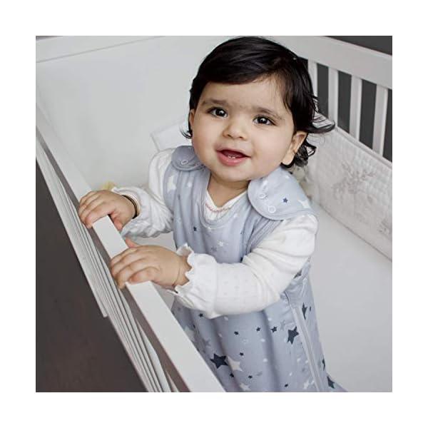 Saco de dormir para bebés tog 2,5 Be Babe | 6-18 meses | Saco de dormir para recién nacidos, niños o niñas | Doble cremallera | Alternativa a mantas para cunas, camas y viajes | Estrella Gris