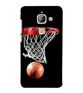 FUSON Basket Ball 3D Hard Polycarbonate Designer Back Case Cover for LeEco Le Max 2 :: LeTV Max 2