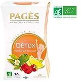 Pagès Infusion Détox Framboise/Citron Vert - Lot de 4