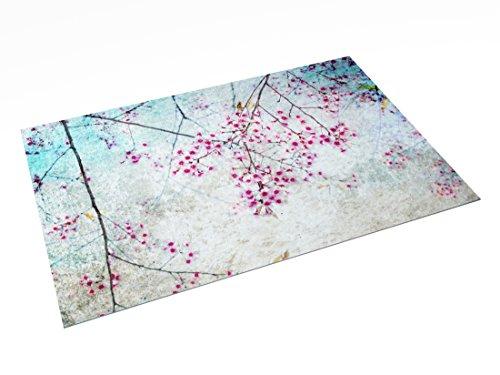 Printodecor 0010-657968927070 Alfombra Vinílica Impresa con Diseño, Plástico y PVC, Multicolor (Floral Spring Blossom), 143 x 97 cm