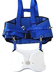 Cinturon de pesca - SODIAL(R) Titular de la cana de pescar de barco correa con la parte posterior del hombro del arnes de paquete completo