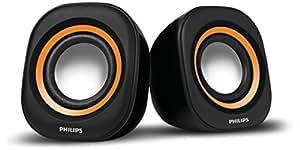 Philips IN-SPA25G/94 Notebook USB Speakers (Orange)