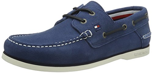 Tommy Hilfiger K2285NOT 1B, Scarpe da Barca Uomo, Blu (Jeans 013), 41 EU