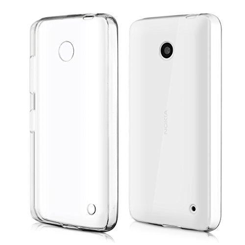 kwmobile Nokia Lumia 630 Hülle - Handyhülle für Nokia Lumia 630 - Handy Case in Transparent