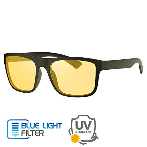 Brillen mit Blaulichtfilter Gaming Brille - Avoalre Hoher Schutz Computerbrille mit UV Schutz, Anti Blaulicht Brille für PC, Handy und Fernseher, Anti Müdigkeit, Anti blaulicht