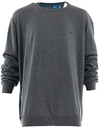 D555 - Pull léger gris anthracite - D555 grande taille homme - Gris