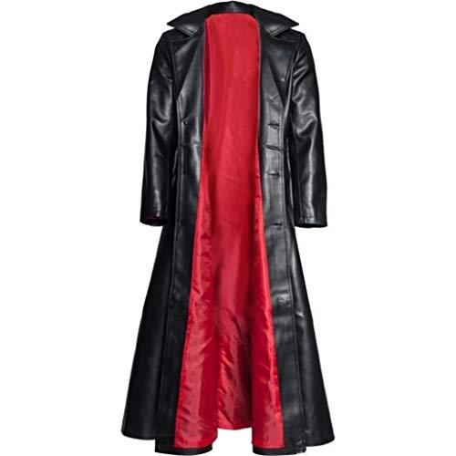 SMILEQ Abrigo de los Hombres Moda gótica Abrigo Largo Chaqueta...