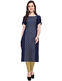 31aa0a5ae9 Bhojalram Creation Printed Crepe Fabric Used Blue Color Fancy Kurtis for  Women's