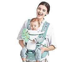 Mochila Portabebé Ergonómico Multifuncional 4 en 1 Fular Porta Bebé con Múltiples Posiciones Suave Ajustable para Niños