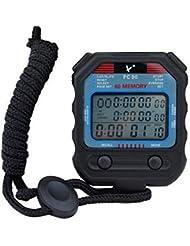 Cronometro Digitale Sportivo con Grande Display, Cronometro Professionale da Competizione, Contatore Digitale Portatile, 3 File 60 Memorie Handheld Digital Sports Cronometro per Il Nuoto Corsa