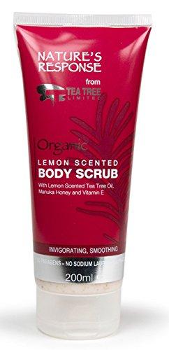 Natures Response Body Scrub Lemon, Tea Tee and Manuka Honey 200ml