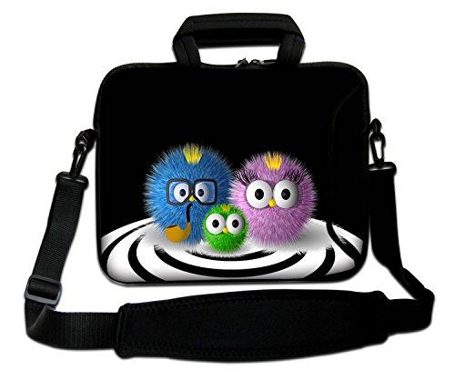 LUXBURG 15 Zoll Schultertasche Notebooktasche Laptoptasche Tasche mit Tragegurt aus Neopren für Laptop / Notebook Computer