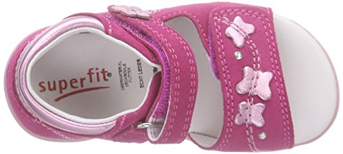 Superfit Pretty2, Sandales bébé fille Rose (pink Kombi 64)