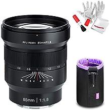 Viltrox FE 85mm F1.8 Grande Ouverture Plein Format Objectif Fixe Manuel pour Sony E-Mount A7 A7R A7RII A7S 6000L NEX-6L NEX-6R avec kit de Nettoyage Pergear