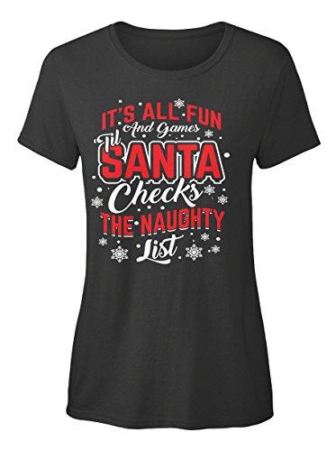amen von Teespring | Originelles Outfit für jeden Anlass und lustige Geschenksidee - Santa Naughty List Christmas T Shirt (Naughty Santa-outfits)