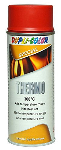 DUPLI COLOR 409355 Thermo Spray Paint - 300 Grad Celsius, 400 ml, rot
