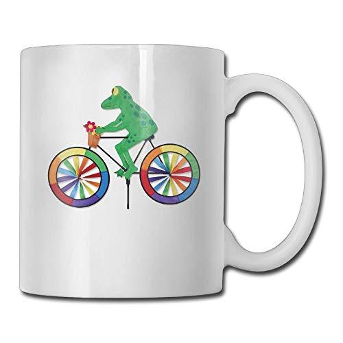 VVIANS Tree Frog Bicycle Wind Spinners Printed Coffee Tea Mug Cup for Men Women Office Work Adult3.14W x 3.74H(8x9.5cm) - Kit Tea Tree