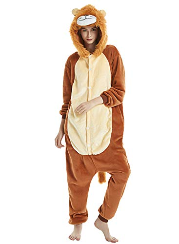 Amenxi Adulte Unisexe Anime Animal Costume Cosplay Combinaison Pyjama Outfit Nuit Vetements Onesie...