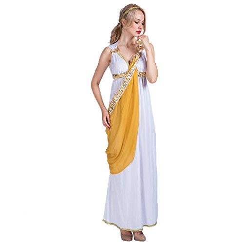 EraSpooky Damen Römische Göttin griechische Halloween Kostüm (Für Halloween Dame Kostüme Alte)