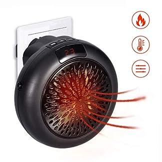 GHONLZIN Mini Heater Estufa Eléctrica Portatil 1000 W con Termostato, Mini Estufa Eléctrica Calefactor Portátil Instant Heater con Termostato Ajustable