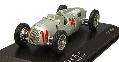 """Minichamps Maßstab 1: 43""""Auto Union Typ C Achille Varzi (Lombardei) Ungarische GP 4.917,4cm Auto (504-piece)"""