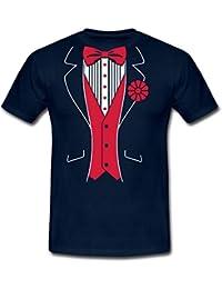Spreadshirt Tuxedo Costume Humour Men's T-Shirt