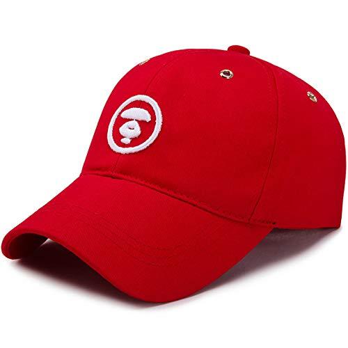 LINSID HUT-Mode Baseballmütze Unisex Schöne Kappen Frauen Männer Hysteresenkappe Papa Hut Sommer Einstellbare Gorras rot