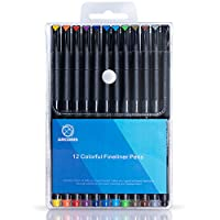Journal Planner Pens, Arcobis Fineliner Color Pens Fine Point Marker Pens Fine Line Drawing Writing Pen for Journal Planner Note Calendar Coloring Office School Supplies Art Projects